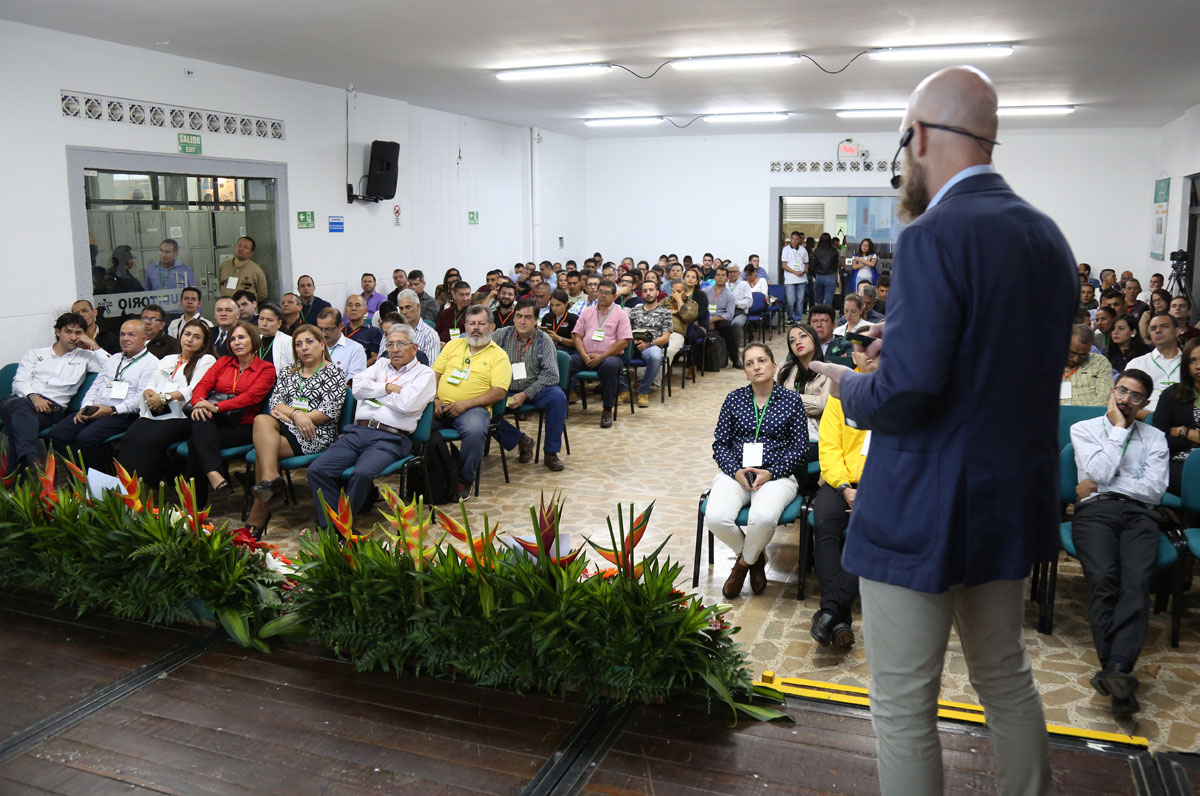 Stefan Junestrand delivering Key Note Speech about Smart Cities at SENA Medellín Colombia, October 2018