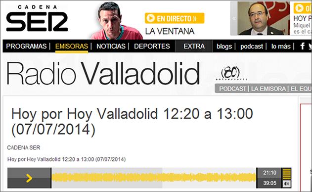 Interview with Stefan Junestrand on Radio Valladolid
